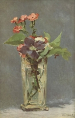 Carnations and Clematis in a Crystal Vase, 1883
