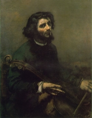 The Cellist, Self-portrait, 1847