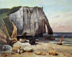 Cliffs at Etretat, After the Storm, 1870