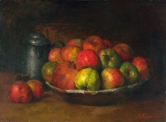 One of a series of still-life paintings Courbet made while in prison for his role in the Commune (1871)
