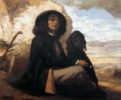 Self-portrait with Black Dog, 1842