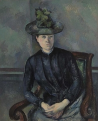 Femme au Chapeau Vert (Woman in a Green Hat. Madame Cézanne.) 1894–1895