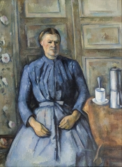 Woman with a Coffeepot Oil on canvas c. 1895