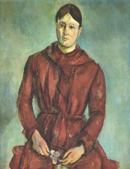 Madame Cézanne in a Red Dress c. 1890-1894
