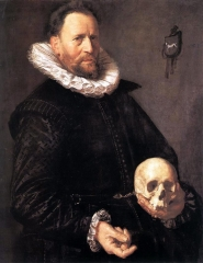 Portrait of a Man Holding a Skull, c.1615