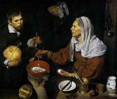Vieja friendo huevos (1618, English Old Woman Frying Eggs).