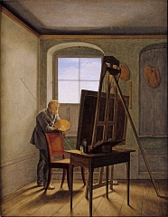 Georg Friedrich Kersting, Caspar David Friedrich in his Studio (1819)