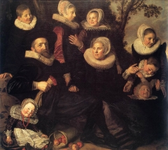 Family Portrait of Gijsbert Claesz van Campen in a Landscape, c. 1620
