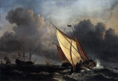 Dutch Fishing Boats in a Storm or A Rising Gale (1672)