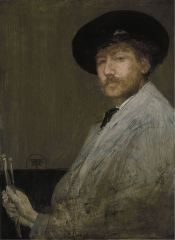 Arrangement in Gray Portrait of the Painter (self portrait c. 1872)