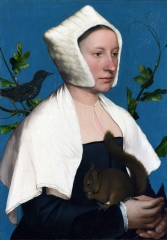 Portrait of a Lady with a Squirrel and a Starling, c. 1527–28.