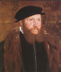 Man in a Black Cap, by John Bettes the Elder, 1545