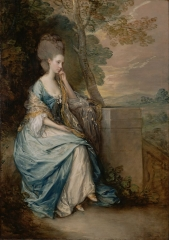 His later pictures are characterized by a light palette and easy strokes. Portrait of Anne, Countess of Chesterfield, 1777–1778