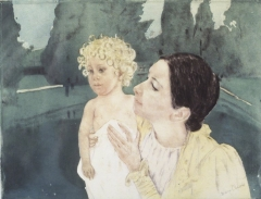 Mary Cassatt, Mother and Child Before a Pool, ca. 1898