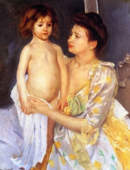 Jules Being Dried by His Mother (1900)