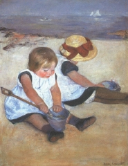 Children on the Beach (1884)