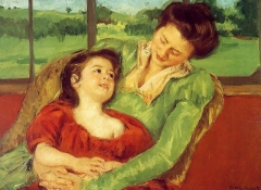 Mère et enfant (Reine Lefebre and Margot before a Window), c.1902