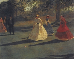 Croquet Players, 1865