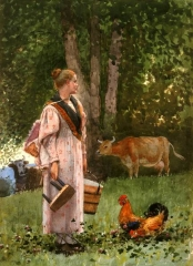 The Milk Maid, 1878