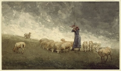 Shepherdess Tending Sheep, 1878