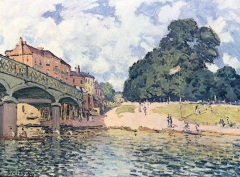 Bridge at Hampton Court, 1874