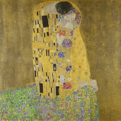 The Kiss 1907-08-Gustav Klimt