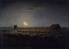 The Sheepfold. In this painting by Millet