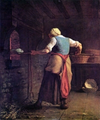 Woman Baking Bread, 1854