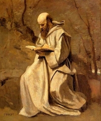 Monk Reading Book, 1850–1855