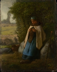 Shepherdess Seated on a Rock, 1856