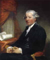 Reynolds painted by American artist Gilbert Stuart