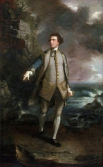 Captain the Honourable Augustus Keppel in the pose of the Apollo Belvedere, 1753
