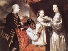 George Clive and his family with an Indian maid, 1765