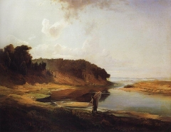 Landscape with River and Angler (1859)