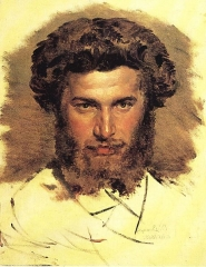 Portrait of Kuindzhi by Viktor Vasnetsov, 1869