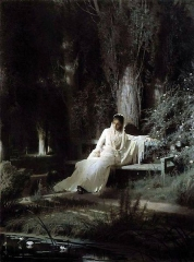 Moonlight night by Ivan Kramskoy