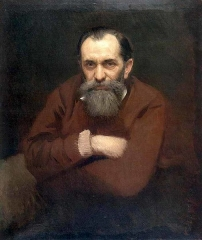 Portrait of Vasily Perov by Ivan Kramskoi