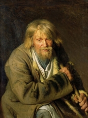 Old man with a crutch, 1872