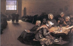 Eventide, A Sene in th Westminster Union (workhouse) (1878)