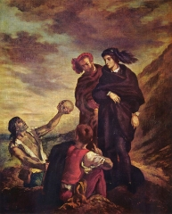 Hamlet with Horatio, (the gravedigger scene), 1839