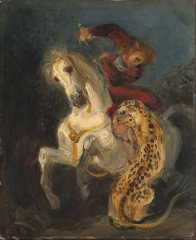Rider Attacked, 1855