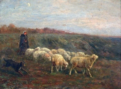 Albert Charpin ,Woman with Lambs