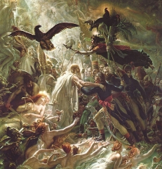 Ossian receiving the ghosts of the fallen French Heroes, c. 1801