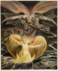 Blake's The Great Red Dragon and the Woman Clothed with Sun (1805)