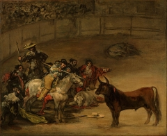 Bullfight, Suerte de Varas, Getty Center, 1824