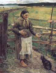 Old Woman With a Cat, 1885