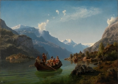Bridal Procession on the Hardangerfjord, by Adolph Tidemand and Hans Gude