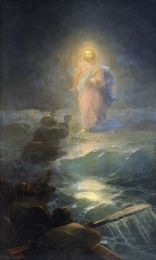 Jesus walking on water (1888)