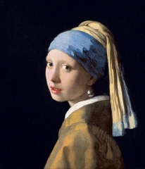 Girl with a Pearl Earring-Painter: Johannes Vermeer