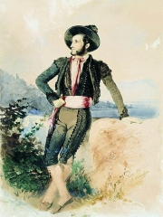 Aivazovsky in Italian costume, by Vasily Sternberg, 1842